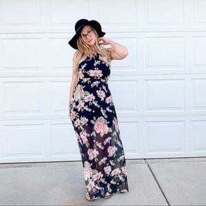 Rue 21 NWT High neck floral maxi dress